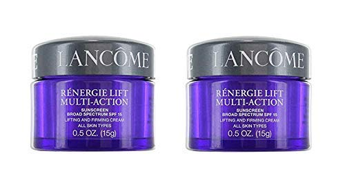 2 x Lancome Renergie Lift Multi-Action Sunscreen Broad Spectrum SPF 15 Lifting and Firming Cream All Skin Types 0.5 OZ.(15g)
