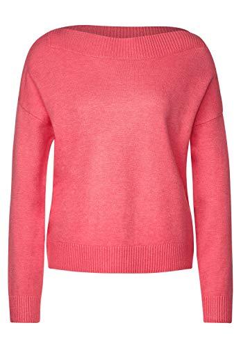 Street One Damen Softer U-Boot Pullover Sugar pink Melange 38
