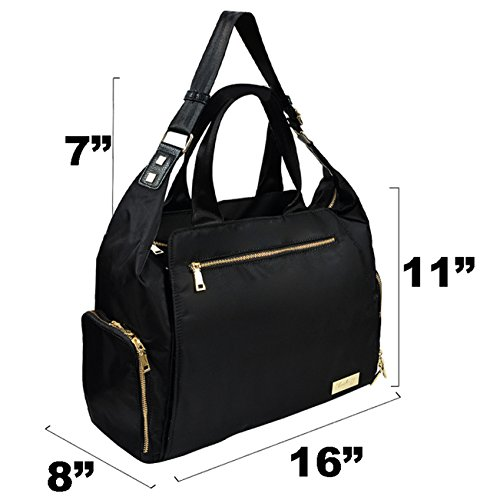 The New Yorker Breast Pump Bag by Charlie G, Black/Gold (Large)