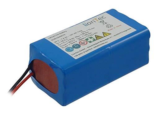 LionTec Golftrolley Akku Batterie Lithium-Ionen 24 V (25,2 V) - 7,8 Ah für Agent Golf