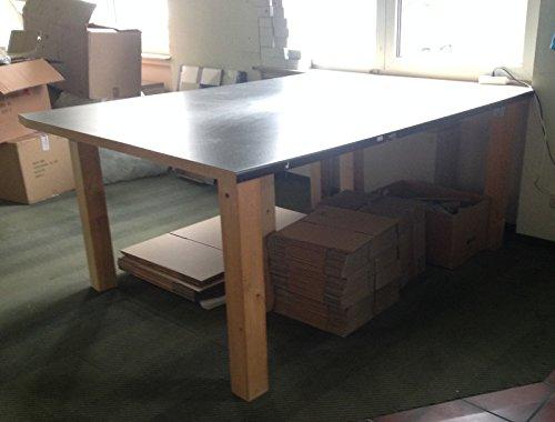 Packtisch Arbeitstisch Werkbank Werktisch Arbeitstisch 204 x 150 cm Fläche, Arbeitshöhe 88 cm