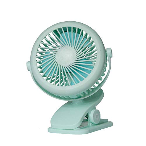 Powered Desk Mini Fan Mini Desk Fan, oplaadbare Operated Klem op Fan, 360 graden draaien Portable USB ventilator for wandelwagen auto, op kantoor, Dorm, Camping Groot for Desktop Tabletop Office & Tra