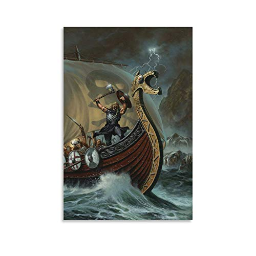 KEMS Pósteres de Vikings, póster de película, póster loco, pintura decorativa sobre lienzo para pared, para sala de estar, dormitorio, pintura de 20 x 30 cm