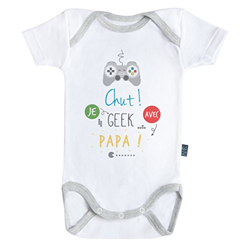 Body Bebe Geek Chut Je Geek avec Papa