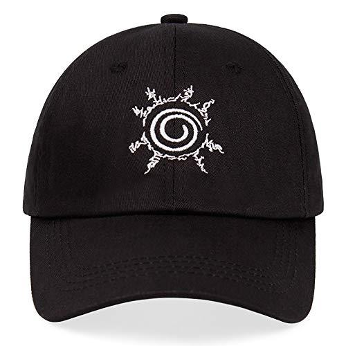 Heppy Anime Dad Hat Naruto Seal 100% algodón Bordado Gorra de béisbol Snapback Unisex Cartoon Fashion Hip Hop Casual Sun Hats