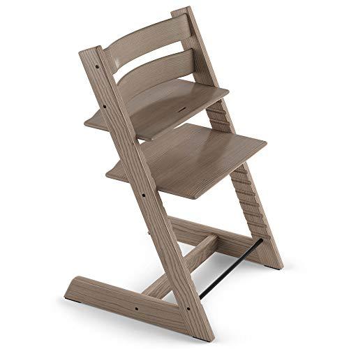 TRIPP TRAPP® Silla evolutiva de madera | Silla de altura regulable perfecta para bebés, niños y adultos | Tipo de madera: Freixo | Colour: Taupe