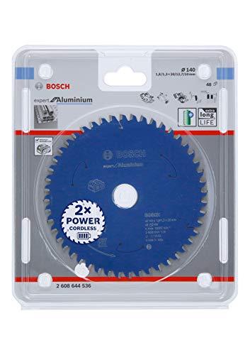 Bosch Professional Cirkelzaagblad Expert for Aluminium (aluminium, 140 x 20 x 1,8 mm, 48 tanden, accessoire accu-cirkelzaag)
