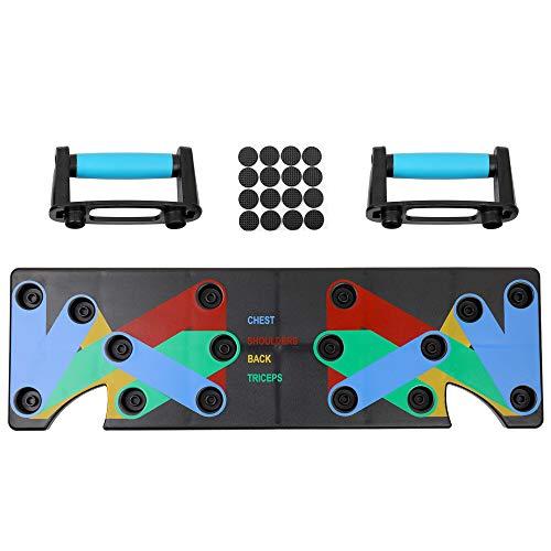 Festnight Sistema Multifuncional para el hogar Tablero de Bastidor 9 Sistema de Ejercicio físico Integral Ejercicios de flexión de Brazos Entrenamiento de musculación Gimnasio para Hombres y Mujeres