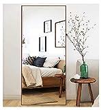 CrossROBBIN Thin Frame Floor Mirror (Walnut, 65 x24)