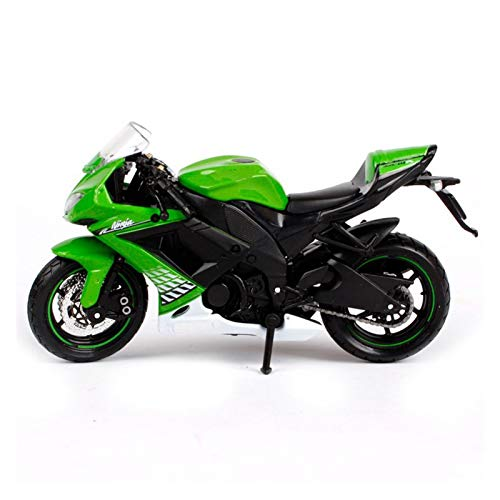 CYPP 1:18 para Kawasaki Ninja ZX 10R Motocicleta Modelo Modelo Modelo Adulto Niños para Niños Adornos