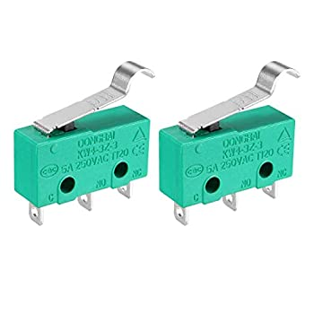 uxcell 2Pcs KW4-3Z-3 5A/250VAC Simulated R-Lever Type Micro Switches