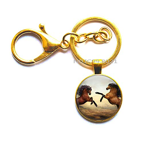 Horse Charm Animal Keychain Beast Jewelry Wild Key Ring,Horse Keychain, Running Horse Keychain, Gifts for Her, Animal Keychain -RG395