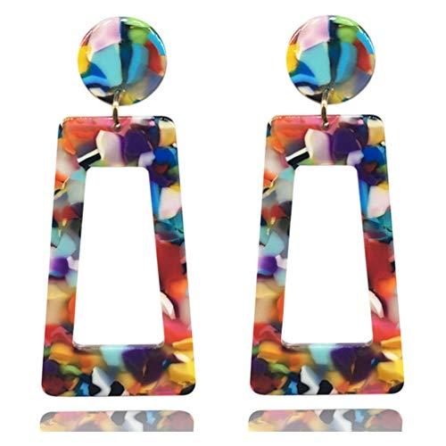 Acrylic Earrings for Women Multicolor Resin Earrings for Girl Statement Dangles Drop Earrings