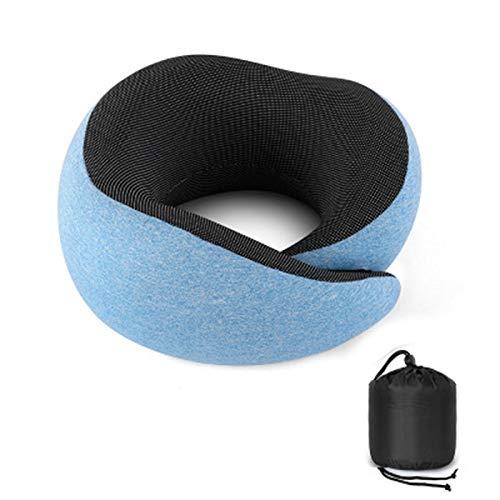 Gesh Lake Blue - Almohada de viaje para el cuello, para dormir, avión, suave, cómoda, para oficina, viajes