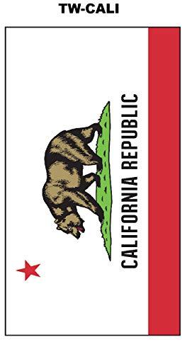Towel California State Flag 2 Pack California Republic Decorative Beach Towel 30' x 60' Soft Cotton Velour Towel Ideal for The Beach Pool Sunbathing