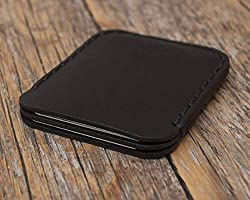 Noir Portefeuille en cuir pour Carte de crédit, argent comptant ou titulaire d'identification. Pochette unisexe style...