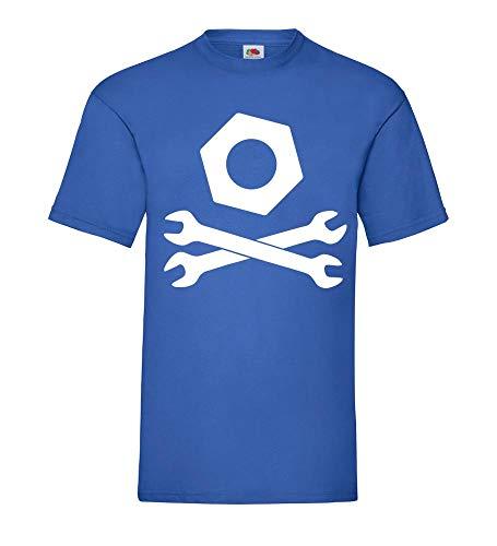 gekreuzte Maulschlüssel mit Mutter Männer T-Shirt Royal Blau 3XL - shirt84.de
