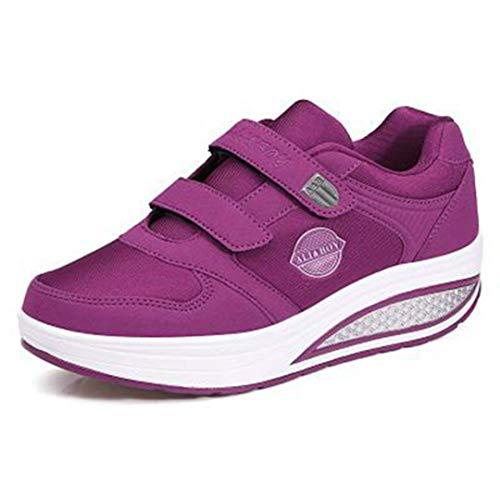 Zapatos Tonificantes para Mujeres Masaje Adelgazante Zapatillas Transpirables con Plataforma Zapatos Deportivos con Cuña Oscilante Zapatillas Deportivas Cómodas Y Transpirables