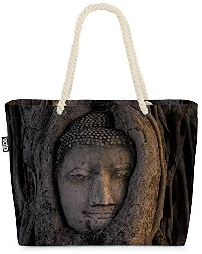 VOID Arbre à tête de Bouddha Sac de Plage XXL 58x38x16cm 23L provisions Voyage bandoulière Beach Bag Shopper