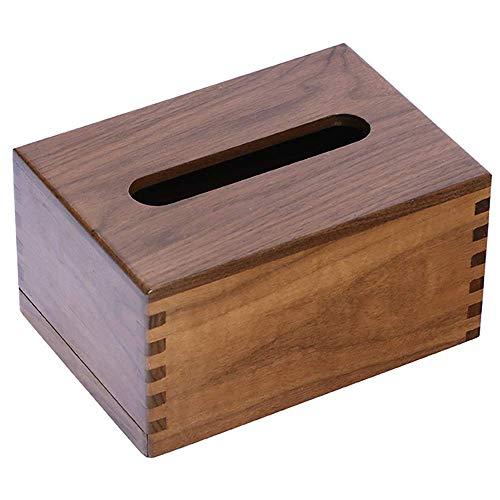 COLiJOL Caja de Papel Servilletero Cubierta de Caja de Pañuelos Madera Bambú Rectangular Ecológico Tirador Dispensador Organizador para Baño Escritorio de Oficina Coche