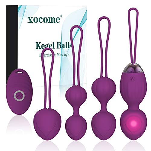 2 en 1 Poids et massages d'exercice Kegel Balls Ben Wa Balls Kegel Balls Débutants et resserrement - Médecin recommandé pour le contrôle de la vessie et les exercices sur le plancher pelvien (violet)