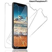 SNUNGPHIR® Cristal Templado Xiaomi Pocophone F1,[3-Pack] Protector Pantalla Xiaomi Pocophone F1 Cristal Templado [2.5d Borde Redondo][9H Dureza][Alta Definición][Anti-Arañazos][Anti-Huella Digital]