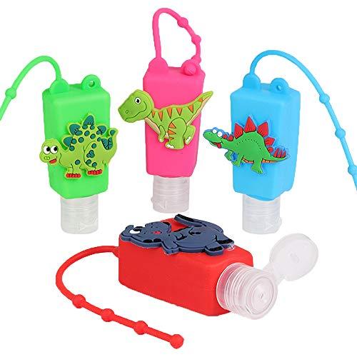 Contenedor Desinfectante Niños,Botellas De Viaje para Desinfectante Manos,Botellas De Viaje Llavero,Contenedor Desinfectante para Manos,Botes Rellenables (B)
