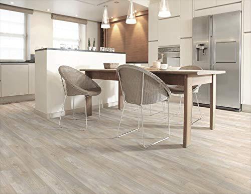 PVC Bodenbelag in hellem Design (8,95€/m²), Zuschnitt (3m breit, 6m lang)