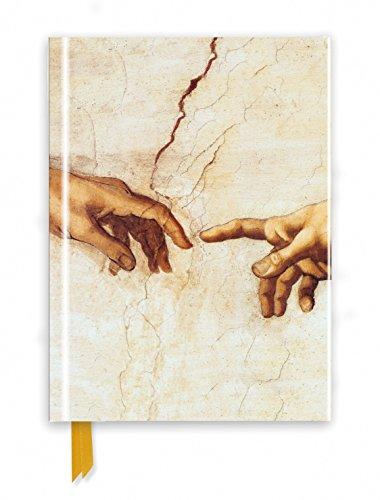 Premium Notizbuch DIN A5: Michelangelo, Die Erschaffung Adams: Unser hochwertiges, liniertes Blankbook mit festem, künstlerisch geprägtem Einband und ... Notizbuch DIN A 5 mit Magnetverschluss)