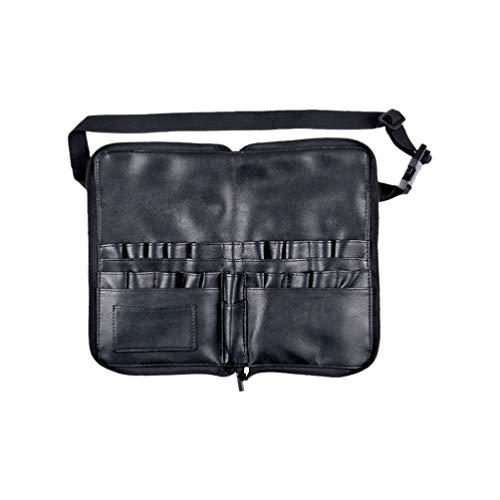 Lurrose taille cosmétique sac en cuir brosse de maquillage en cuir pour artiste professionnel organisateur cosmétique sac