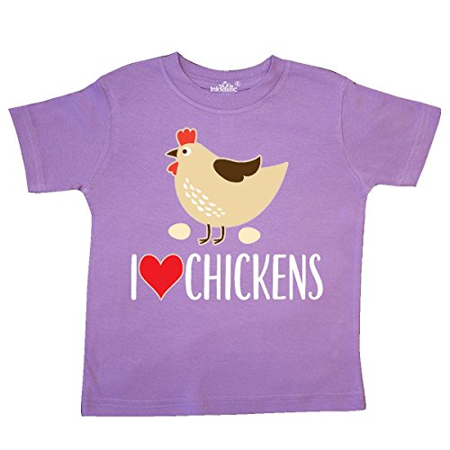 Inktastic Crazy About My Chickens Toddler T-Shirt I Love Clothing Gift Apparel