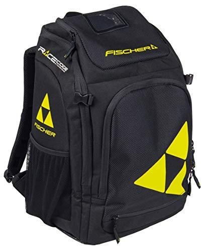 FISCHER Unisex– Erwachsene, schwarz/gelb Boot/Helmet Backpack Alpine Race 36L, 36 Liter