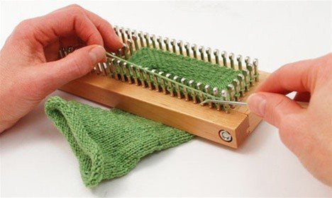 KB Sock Loom Adjustable Wood Knitting Board Kit w/DVD