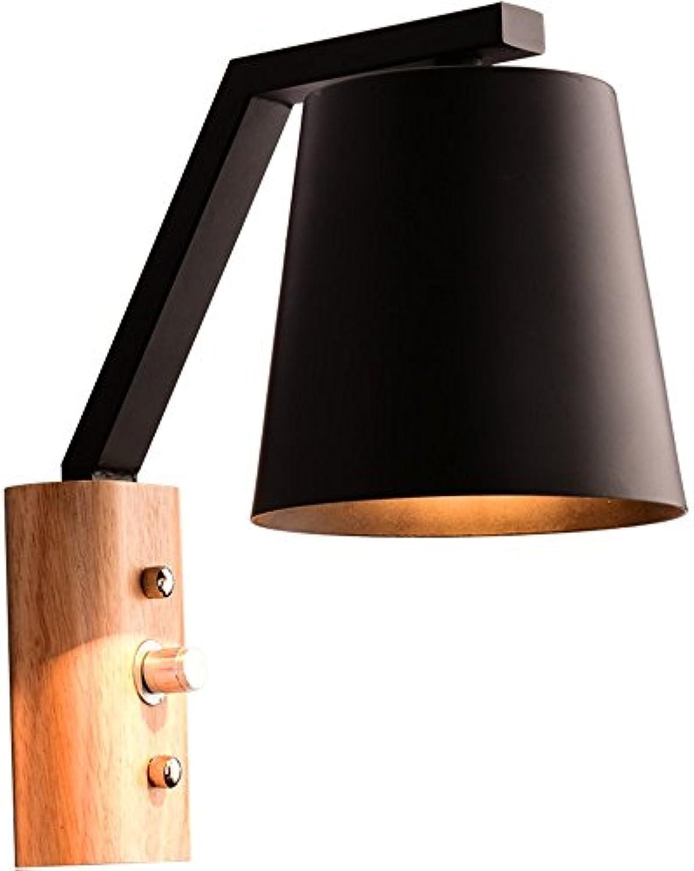 Modern LED Wandleuchte Protokollieren Sie Holzschlafzimmer des kreativen Schlafzimmers des Bettbalkons Gang massive hlzerne Wand Vintage Retro Café Loft Bar Flurlampe, Wandlampe.