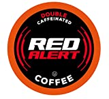 Red Alert Coffee Extra Strong Coffee Pods (Recyclable) Compatible With 2.0 Keurig K Cup Brewers, Caffeine, 40 Count (Pack of 1)