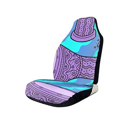 Tambores Grunge Cubierta de asiento de automóvil Asientos delanteros Solo protector de asiento de cubo completo Cojines de asiento de automóvil para automóvil SUV Camión