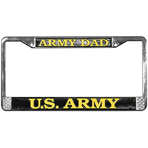 ARMY DAD License Plate Frame - Chrome Metal