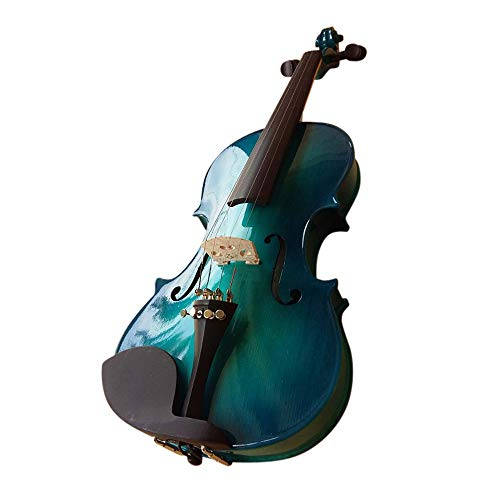 """Akustik-Violine von Zest Acoustic, in """"Blue Burst"""", Größe 1/4bis 4/4, Violine mit Bogen und gepolsterter Schutzhülle 1/2 Blue burst"""