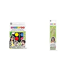 Product 1: Brand : SNAZAROO Product 1: Made in United Kingdom Product 1: Snazaroo rainbow hanging Product 2: Package includes 3 paint brushes Product 2: This set features a light green colored brushes, in round, fine and flat used for covering large ...