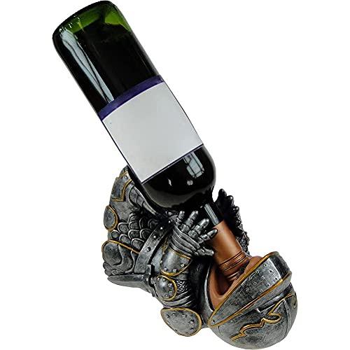 ZIFON Botellas de vino de mesa Soporte de botella de vino de resina de 9 pulgadas titular de botella de vino Caballero titular de la cocina Decoración de la estatuilla de resina para