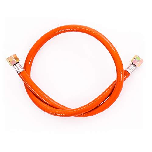 """Gasschlauch 80 cm, 1/4\"""" links, Winterfest und flexibel, Orange - ideal für Gasgrills, Heizstrahler, Hockerkocher, Gaskocher, Lampen, uvm."""