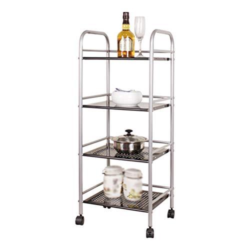 Kitchen furniture - Support de rangement pour grille de four à micro-ondes multifonctions, 4 couches en métal, argent WXP (taille : 40X32X100CM)