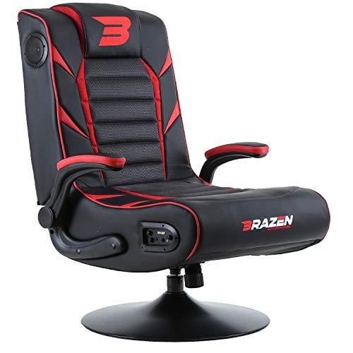 BraZen Panther Elite 2.1 Gaming-Stuhl mit Bluetooth-Surround-Sound, Rot