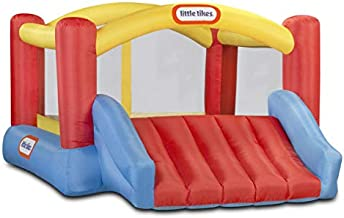 Little Tikes Jump 'n Slide Bouncer - Inflatable Jumper Bounce House Plus Heavy Duty Blower With GFCI, Stakes, Repair Patches, And Storage Bag 106.2 Inch x 137.7 Inch x 65.7 Inch Ages 3-8 Years