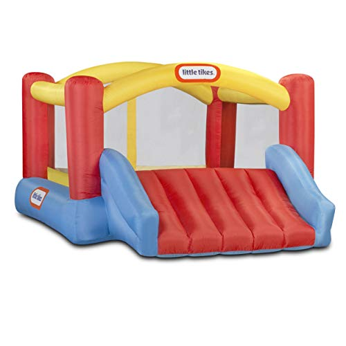 Little Tikes Inflatable Jump 'n Slide Bounce House with heavy duty blower, Multicolor