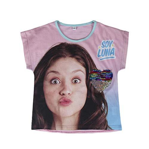 Artesanía Cerdá Camiseta Manga Corta Soy Luna corzon Lente
