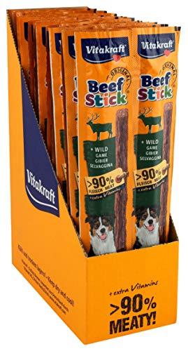 Vitakraft Beef Stick au Gibier, Friandise Snack à la Viande Qualité Premium pour Chien, 10 Sachets de 4 Sticks