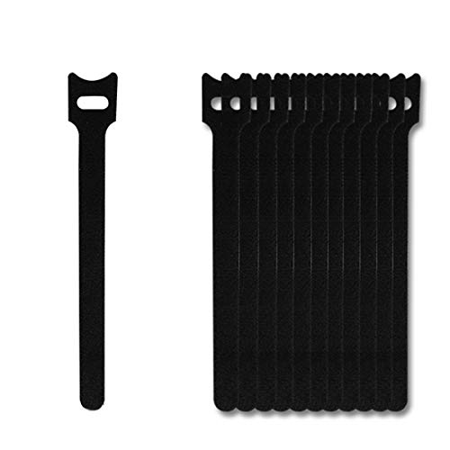Pack of 100 Reusable Cord Ties Fastening Cable Ties Straps for Earbud Headphones Phones Wire Wrap ManagementHook and Loop Cord Ties L Black8inches