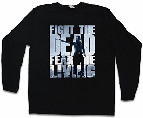 Urban Backwoods Fight The Dead Fear The Living III Long Sleeve T-Shirt De Manga Larga