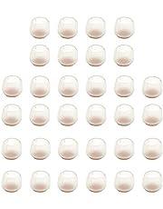 32 Pcs Stoelpootbeschermer, Stoel Siliconen Voethoes, Stoelpootkappen Siliconen Voetkussens, Geschikt voor Ronde Meubelpoten, Zoals Restaurantstoelen En Terrasstoelen